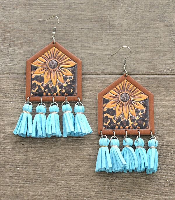 New Arrival :: Wholesale Leather Cattle Tag Earrings