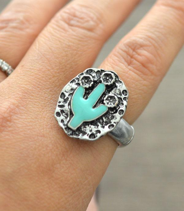New Arrival :: Wholesale Turquoise Cactus Stretch Ring