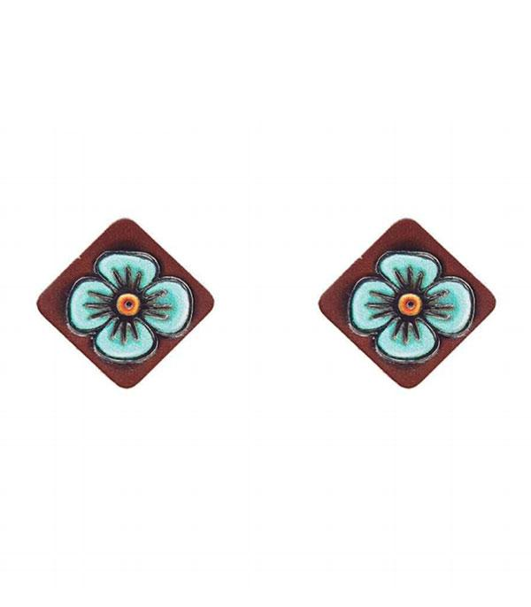 New Arrival :: Wholesale Genuine Leather Post Earrings