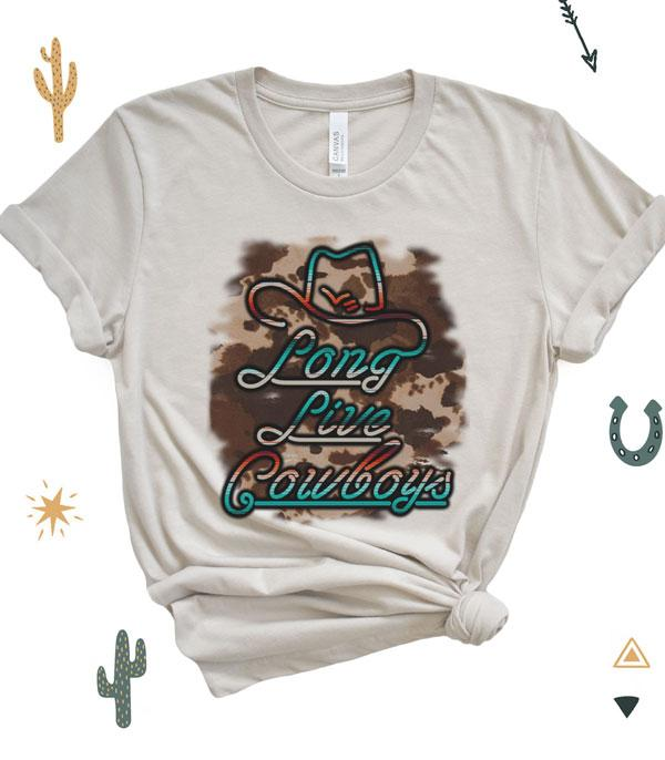 New Arrival :: Wholesale Long Live Cowboys Vintage Printed Tshirt