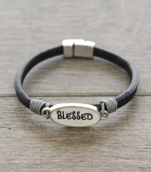 New Arrival :: Wholesale Blessed Animal Print Leather Bracelet