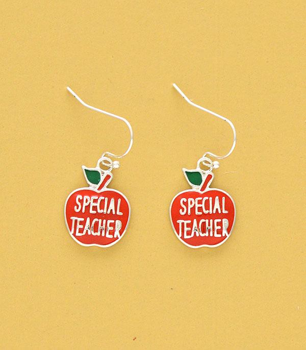 New Arrival :: Wholesale Apple Teacher Dangle Earrings
