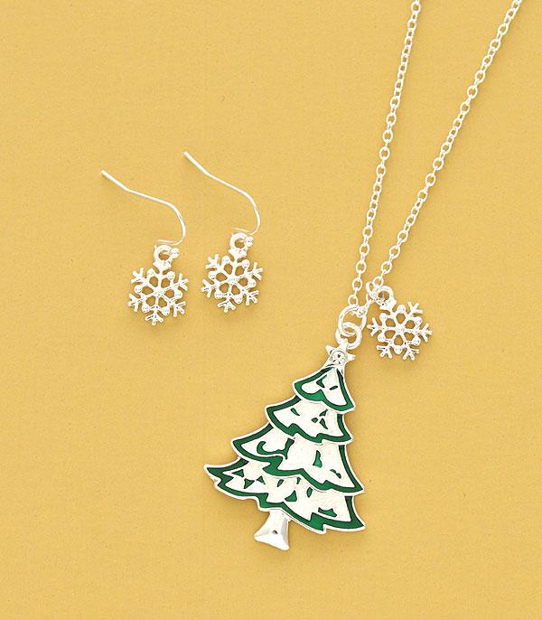 New Arrival :: Wholesale Christmas Tree Pendant Necklace Set