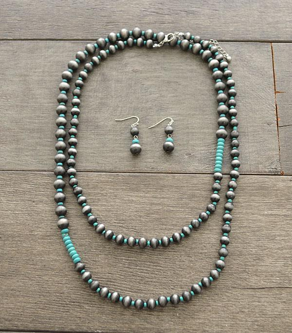 New Arrival :: Wholesale Navajo Pearl Bead Long Necklace