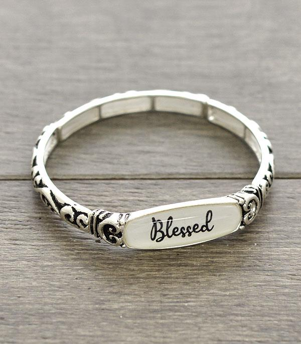 New Arrival :: Wholesale Blessed Inspiration Stackable Bracelet