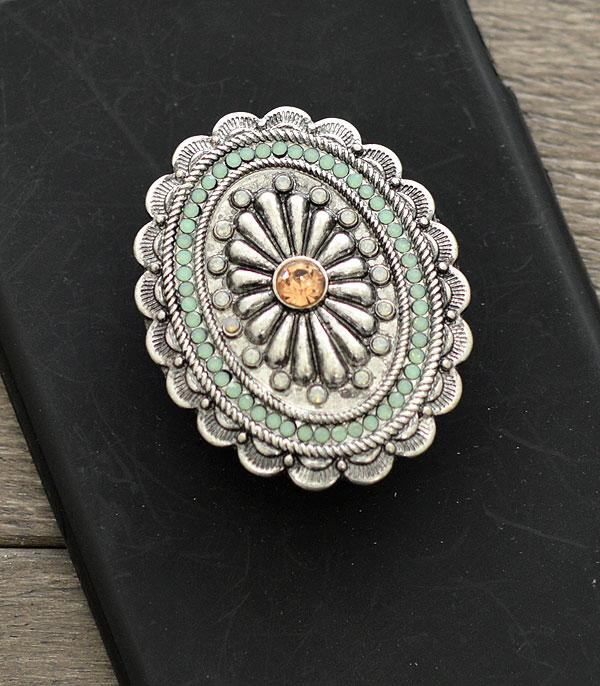 PHONE ACCESSORIES :: Wholesale Bling Stone Concho Phone Grip