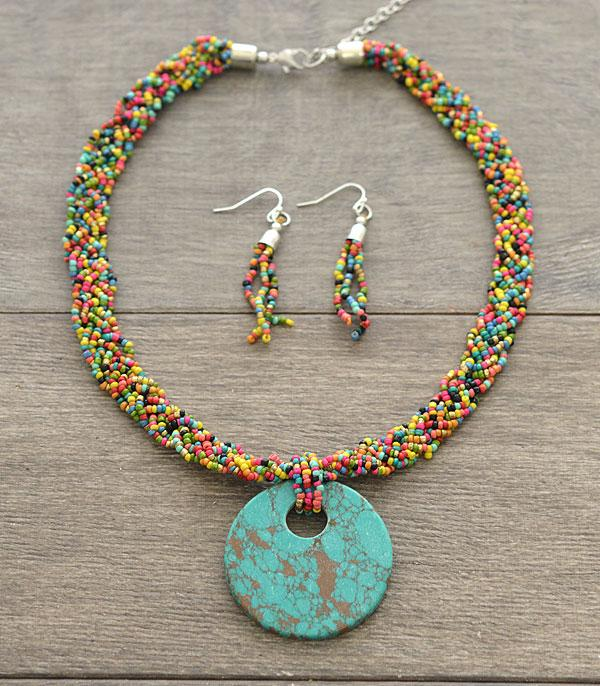 New Arrival :: Wholesale Seed Bead Turquoise Necklace