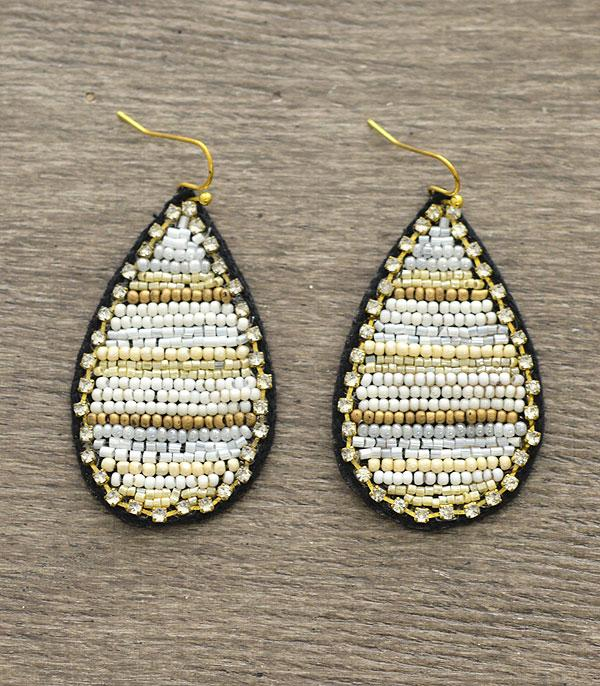 New Arrival :: Wholesale Seed Bead Teardrop Earrings