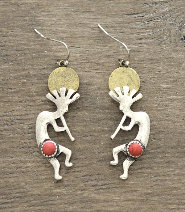 New Arrival :: Wholesale Kokopelli Dangle Earrings