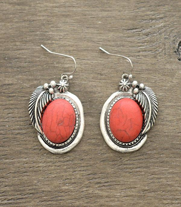 New Arrival :: Wholesale Western Semi Stone Earrings