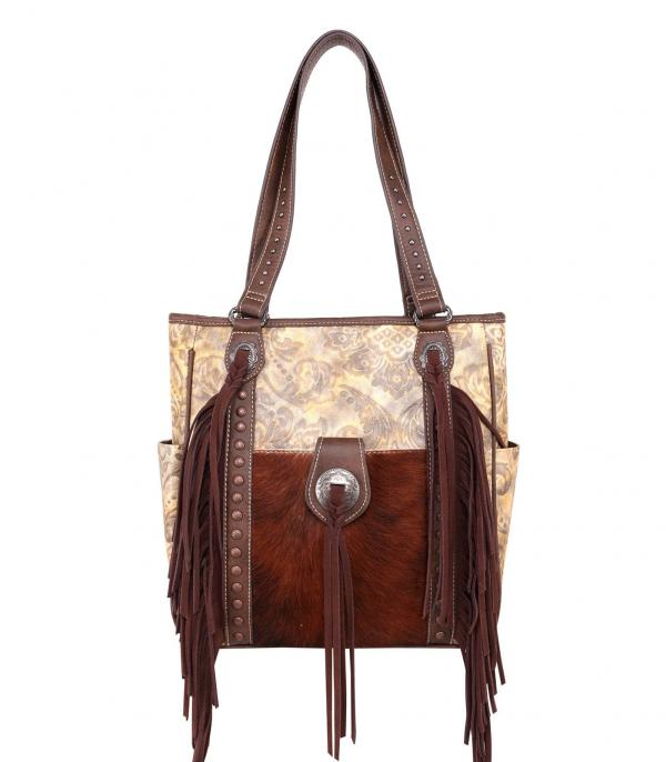 New Arrival :: Wholesale Trinity Ranch Cowhide Leather Tote