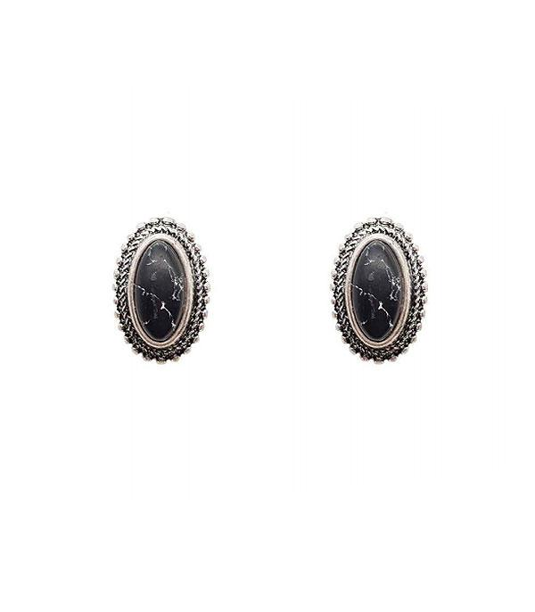 New Arrival :: Wholesale Oval Turquoise Post Earrings