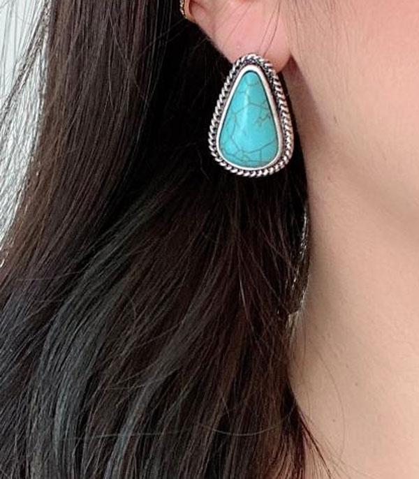 <font color=Turquoise>TURQUOISE JEWELRY</font> :: Wholesale Turquoise Stone Post Earrings