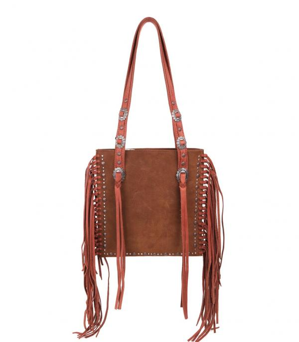 New Arrival :: Wholesale Western Real Leather Fringed Bag