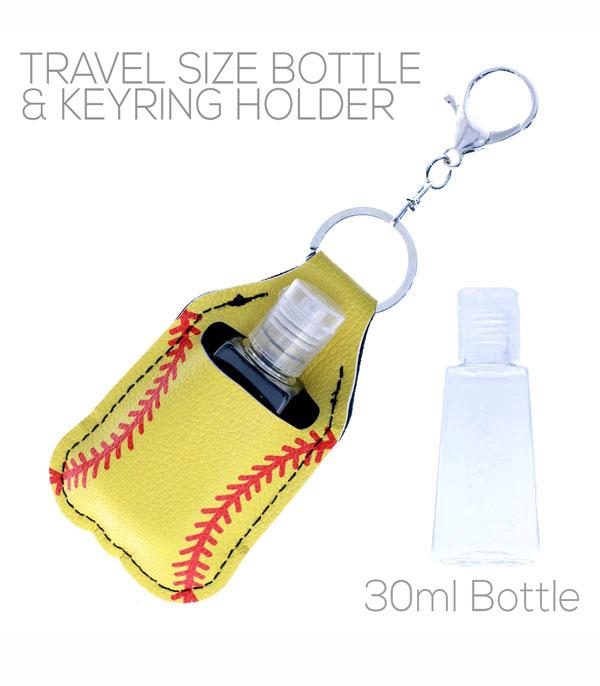 New Arrival :: Wholesale Softball Hand Sanitizer Bottle Keychain