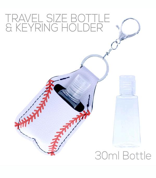 New Arrival :: Wholesale Baseball Hand Sanitizer Holder Keychain