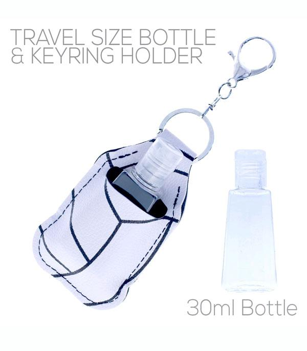 New Arrival :: Wholesale Volleyball Print Hand Sanitizer Keychain