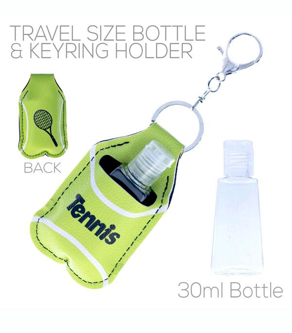 New Arrival :: Wholesale Tennis Hand Sanitizer Holder Keychain