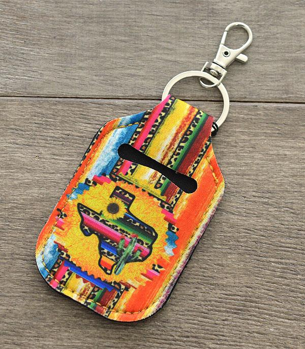 New Arrival :: Wholesale Serape Texas Hand Sanitizer Keychain