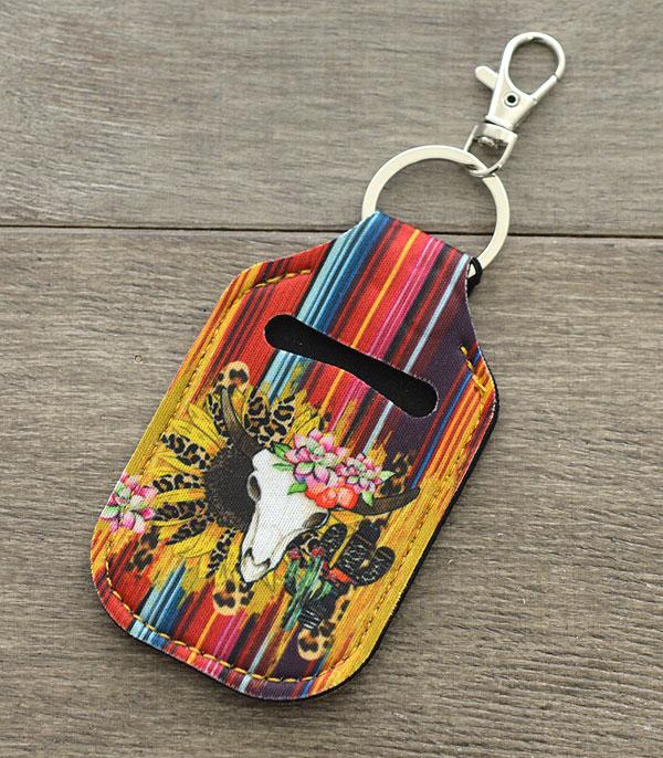 New Arrival :: Wholesale Bull Skull Hand Sanitizer Keychain