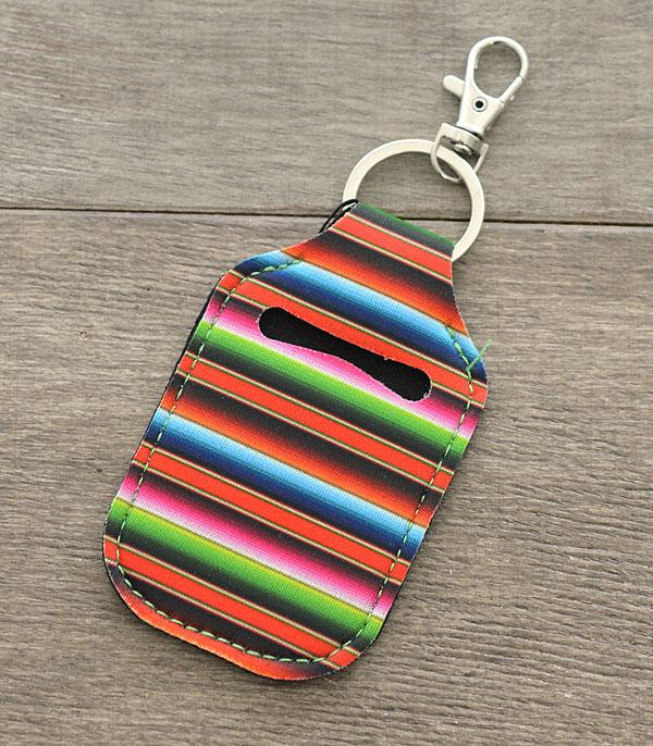 New Arrival :: Wholesale Serape Hand Sanitizer Holder Keychain