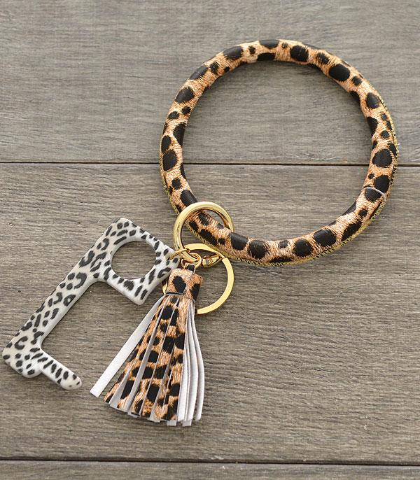 New Arrival :: Wholesale Leopard Bangle Keychain
