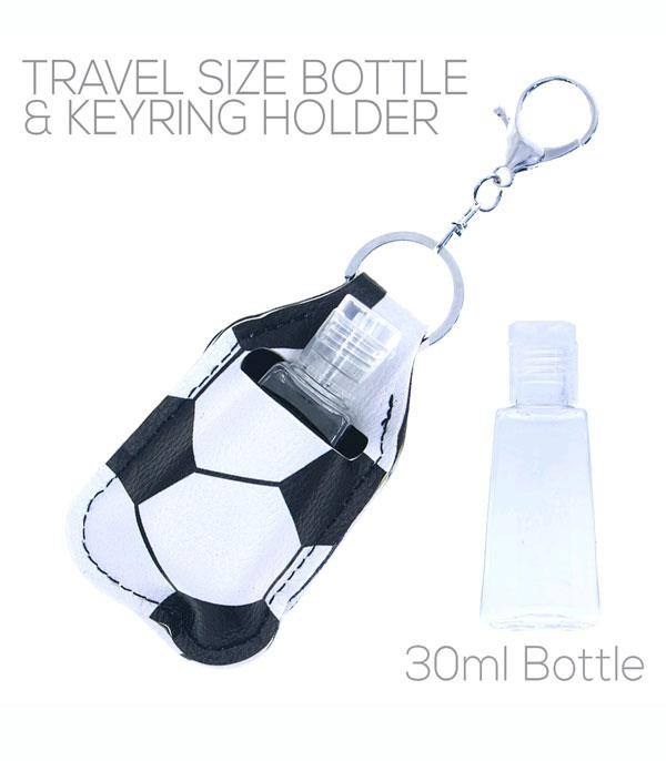New Arrival :: Wholesale Soccer Print Hand Sanitizer Keychain