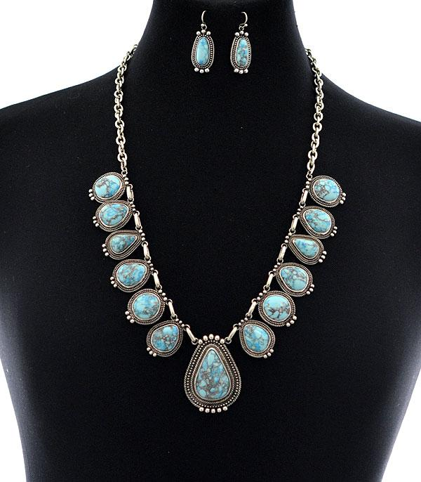 <font color=Turquoise>TURQUOISE JEWELRY</font> :: Wholesale Turquoise Statement Necklace Set