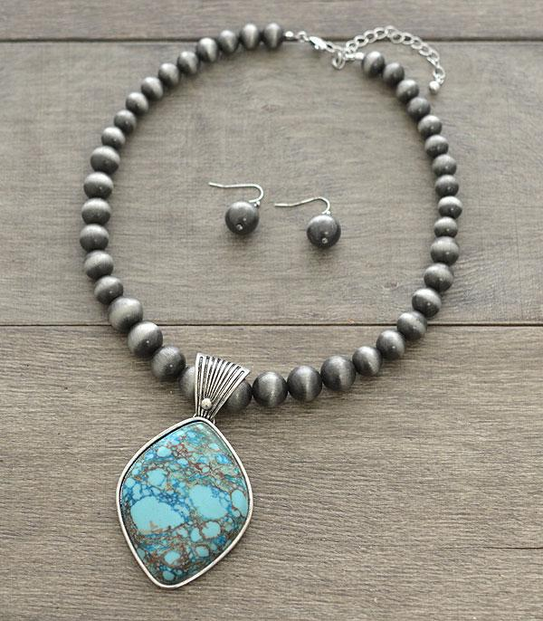 <font color=Turquoise>TURQUOISE JEWELRY</font> :: Wholesale Handcrafted Stone Navajo Necklace Set