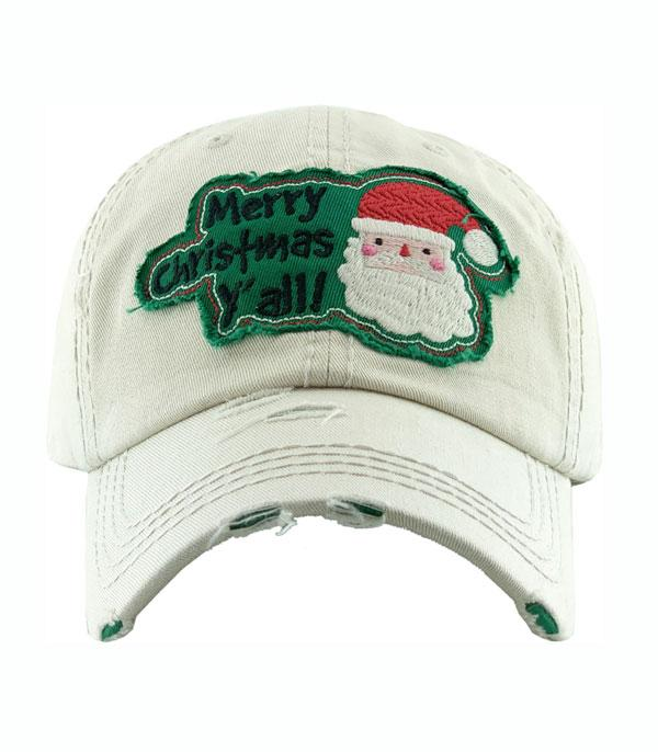 New Arrival :: Wholesale Merry Christmas Yall Vintage Ballcap