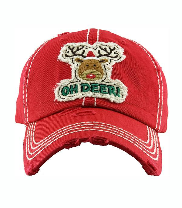 New Arrival :: Wholesale Oh Deer Vintage Christmas Ballcap