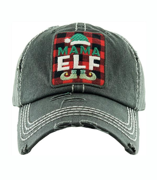 New Arrival :: Wholesale Mama Elf Christmas Vintage Ballcap