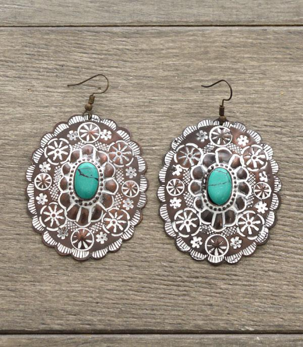 New Arrival :: Wholesale Handmade Western Concho Earrings