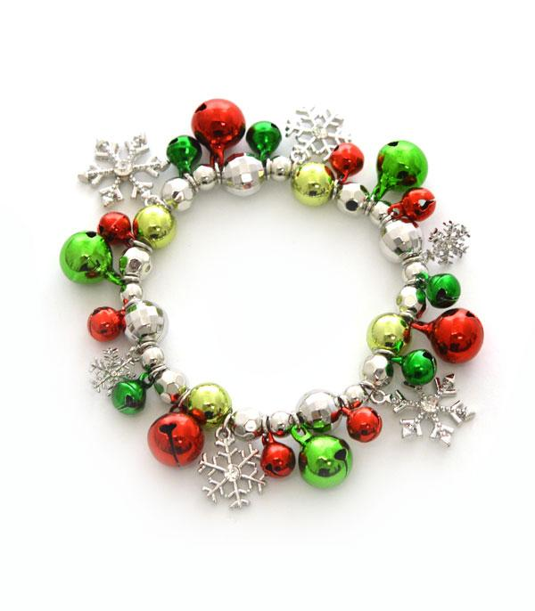 New Arrival :: Wholesale Christmas Jingle Bead Charm Bracelet