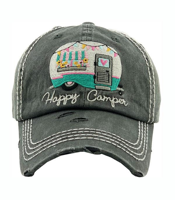 New Arrival :: Wholesale Happy Camper Vintage Ballcap