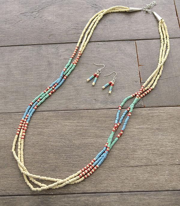 New Arrival :: Wholesale Navajo Bead Layered Necklace