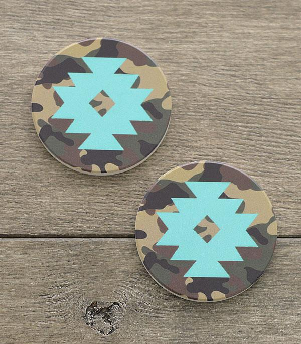 New Arrival :: Wholesale Tipi Western Print Car Coaster Set