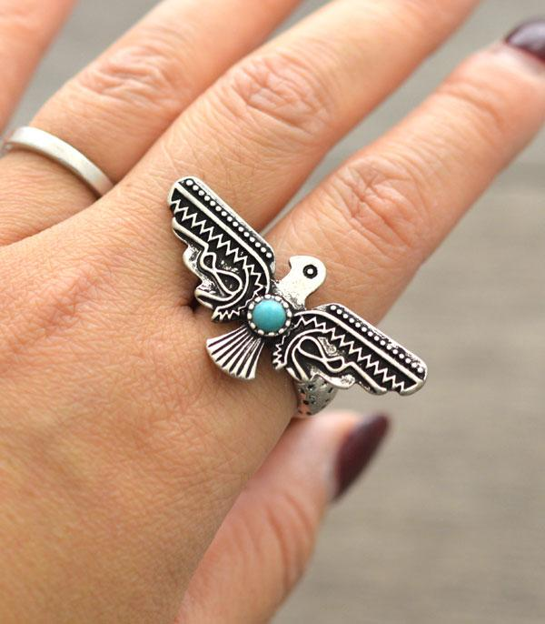 New Arrival :: Wholesale Tipi Western Thunderbird RIng