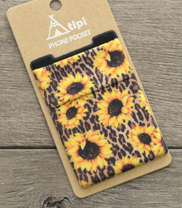New Arrival :: Wholesale Tipi Western Stick-On Phone Pocket