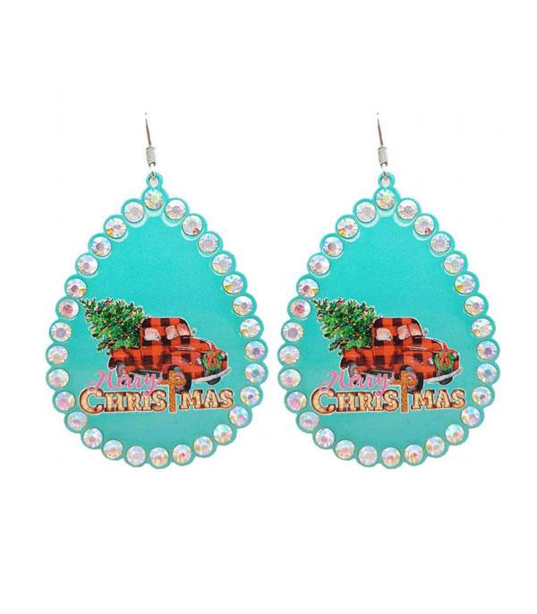 New Arrival :: Wholesale Christmas Truck Teardrop Earrings