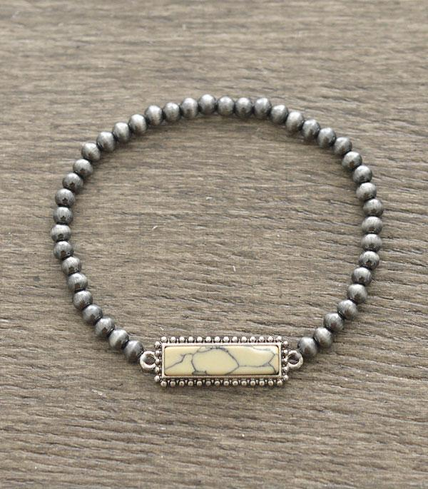 New Arrival :: Wholesale Turquoise Bar Navajo Bead Bracelet