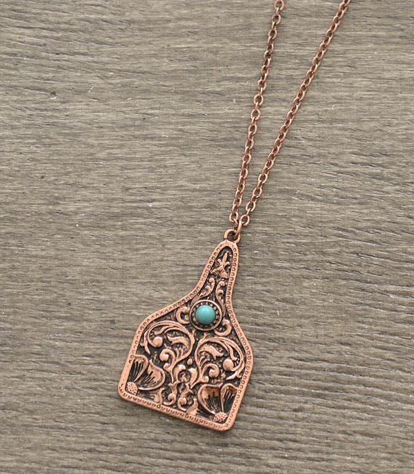 New Arrival :: Wholesale Western Cattle Tag Casting Necklace