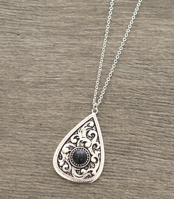 New Arrival :: Wholesale Teardrop Western Casting Necklace