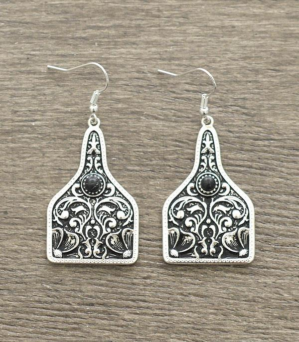 New Arrival :: Wholesale Cattle Tag Western Casting Earrings