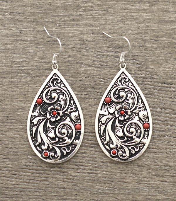 New Arrival :: Wholesale Teardrop Western Casting Earrings