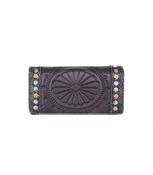 New Arrival :: Wholesale Trinity Ranch Tooled Leather Wallet
