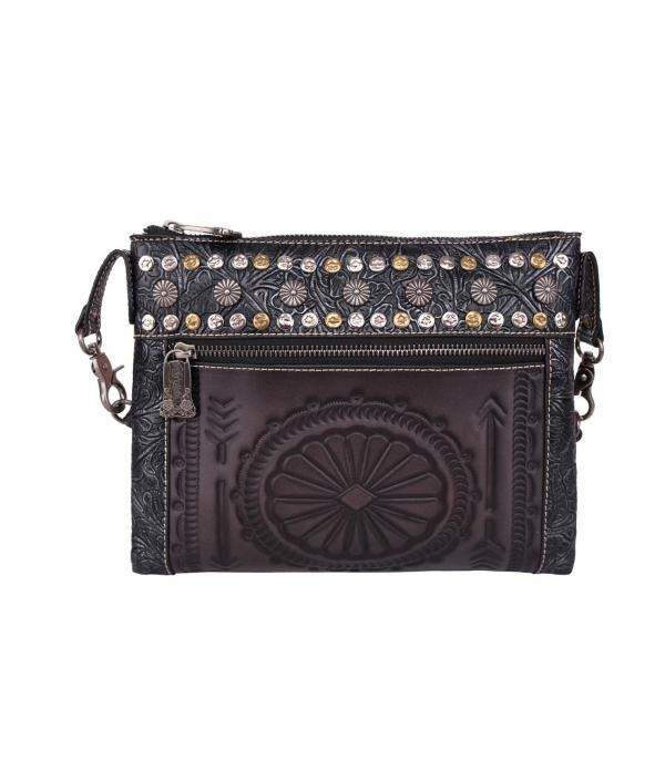 New Arrival :: Wholesale Trinity Ranch Tooled Leather Crossbody