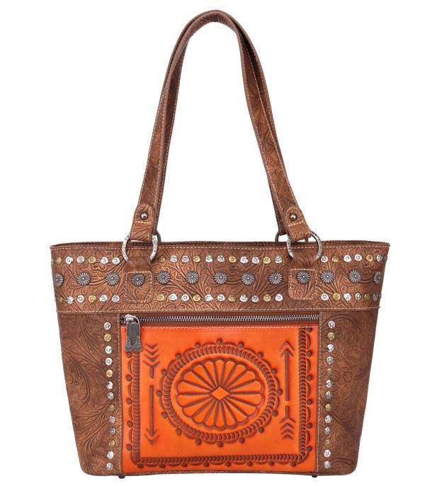New Arrival :: Wholesale Trinity Ranch Tooled Leather Tote