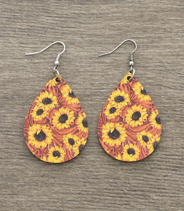 New Arrival :: Wholesale Tipi Teardrop Wood Earrings