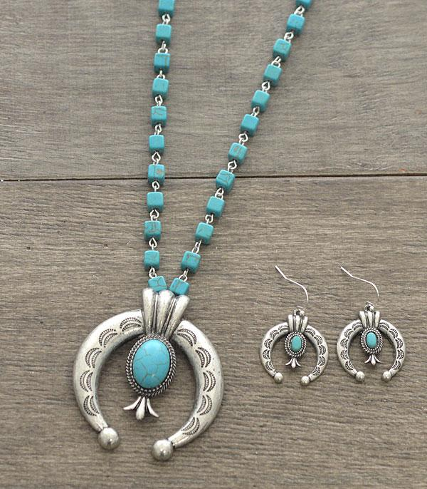 New Arrival :: Wholesale Western Semi Stone Squash Necklace Set